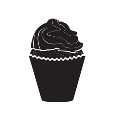 isolated cupcake image vector image