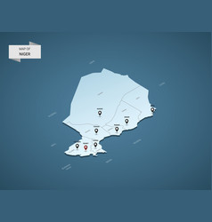 Isometric 3d niger map concept vector