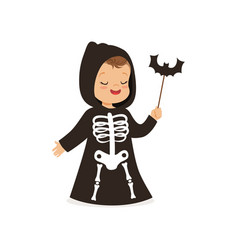 Little boy dressed as grim reaper cute kid in vector