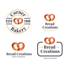 Logo bakery design for restaurant and cafe vector