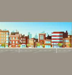 Modern city town street flat background vector