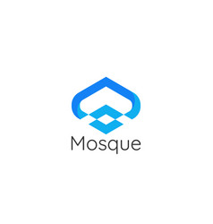 Modern style mosque architecture building logo vector