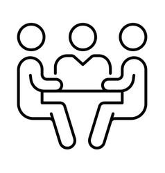 monochrome meeting icon vector image