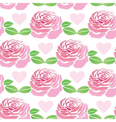 pattern flowers roses vector image