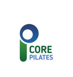 pilates icon yoga studio or fitness sport club vector image