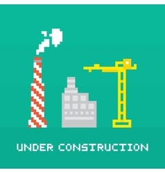 Pixel art under construction vector image