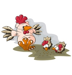potbelly piggies peck vector image