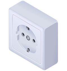 Power outlet wall socket euro standard isometric vector