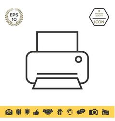 Print line icon vector