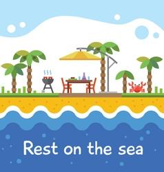 Rest on the sea vector image