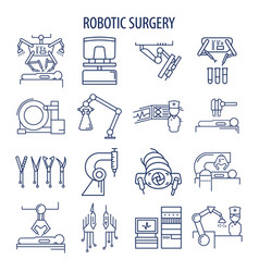 Robotic surgery set vector