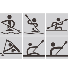 Rowing and Canoeing vector