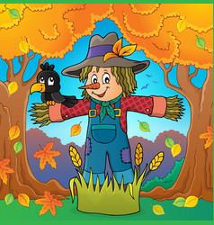 scarecrow theme image 4 vector image