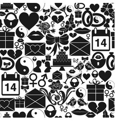 Seamless pattern st valentines day dense vector