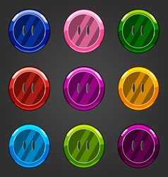 Set of multicolored button closing vector
