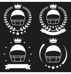 Set of vintage football club badge and label vector