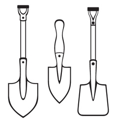 Shovels and spades vector image