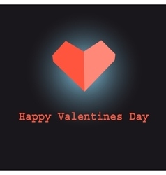 Sign red heart vector