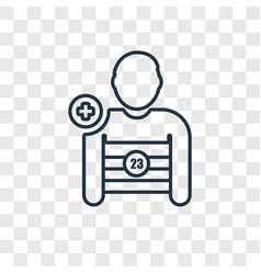 soccer player concept linear icon isolated on vector image