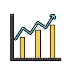Statistics bars isolated icon vector