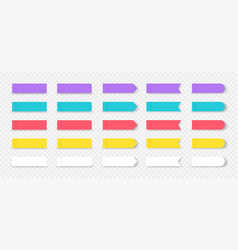 sticky notes colored book and notebook marks vector image