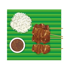 thai bbq vector image