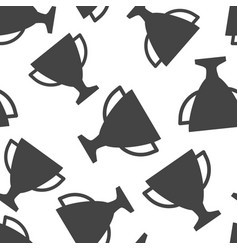 trophy cup seamless pattern background business vector image