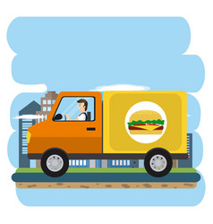Urban delivery service vector