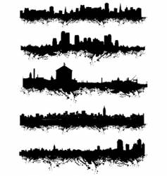 urban silhouette vector image
