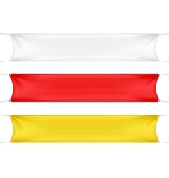 White Red and Yellow Blank Empty Banners vector image