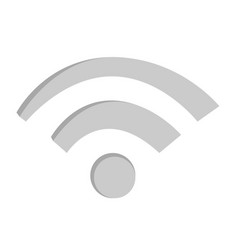 wifi wireless network sign vector image