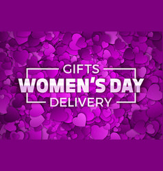 Womens day gifts vector