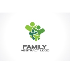 Abstract green logo for business company People vector image vector image