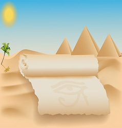 egypt card vector image