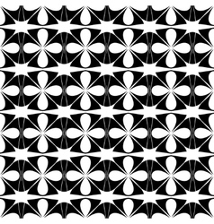 Flower and star seamless pattern vector image