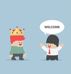 The customer is king vector image