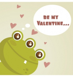valentines monster vector image vector image