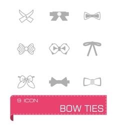 Bow ties icon set vector image