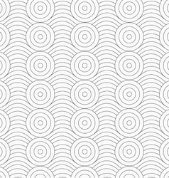 Gray circles merging with continues lines vector image