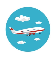 icon airplane flies to the east vector image vector image