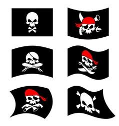 Jolly Roger Pirate flag Skull and crossbones vector image