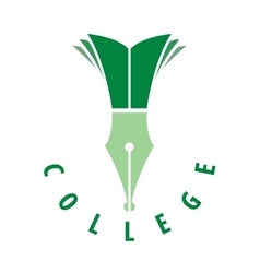 logo college vector image vector image