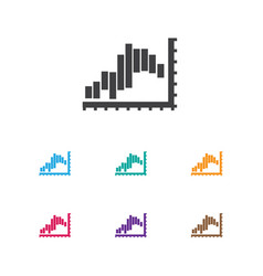 of statistic symbol on report vector image