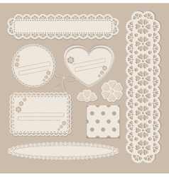 Scrapbook set with different elements - scrapbook vector image