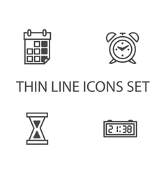 Time clock icons set vector image vector image