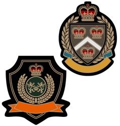 badge royal emblem shield vector image vector image