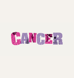 cancer concept colorful stamped word vector image vector image