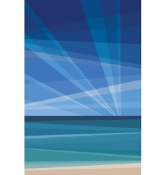 Daylight under beach Geometric abstract vector image