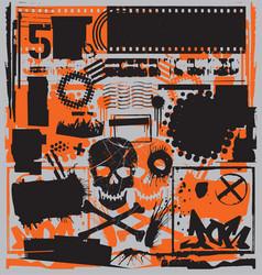 grunge design elements set vector image vector image