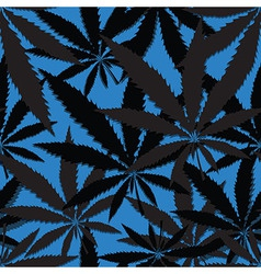 Hemp floral seamless background cannabis leaf vector image